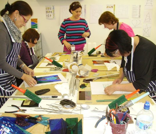Vitreus Art beginners stained glass Workshop