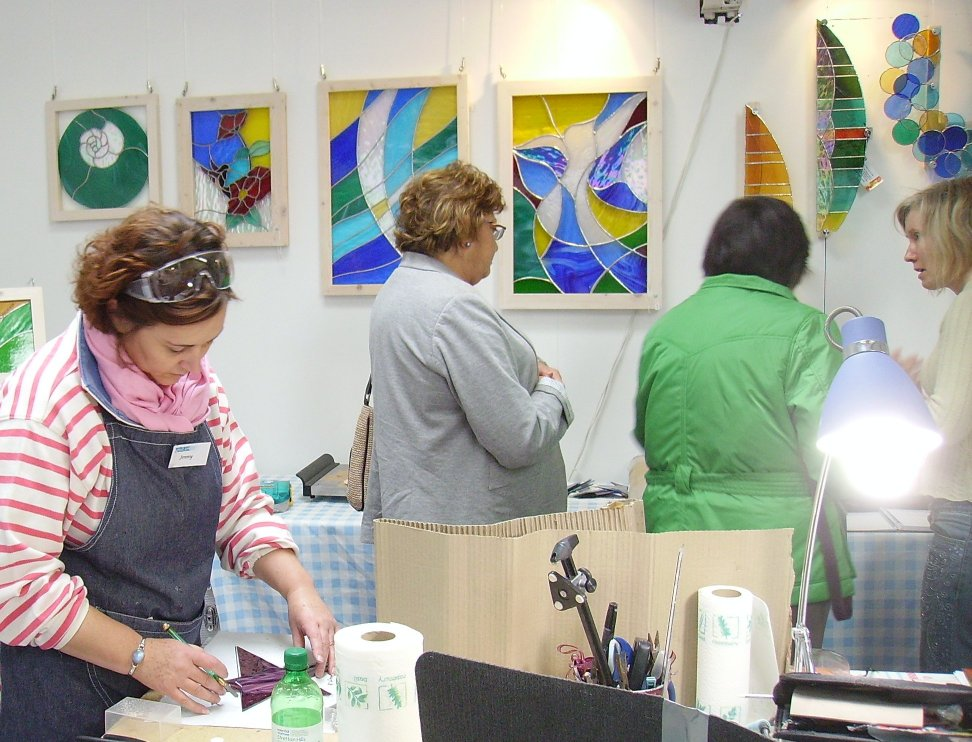Jenny working during 2010 Open Studios