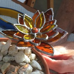 Copper foiled stained glass workshops at Vitreus Art
