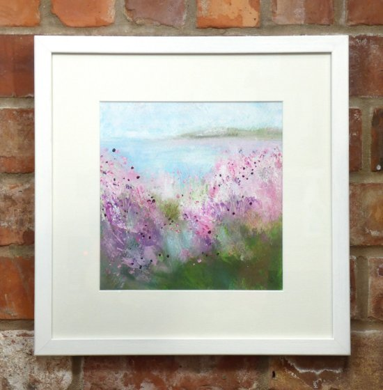 Abby Cork - coastal path series of original mixed media and watercolour paintings - on show at Vitreus Art gallery - Northants