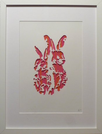 Annie Gray new series - Hares - at Vitreus Art