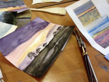 Learn watercolour painting on our coysre with Clare Tebboth