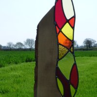 Beltane - outdoor glass art by Vitreus Art