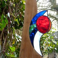 BLood Moon garden glass - click to view