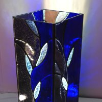 Blue Mood column lamp by Vitreus Art