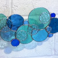 Blue Skies Foiled Glass Window Hanging - Click to view