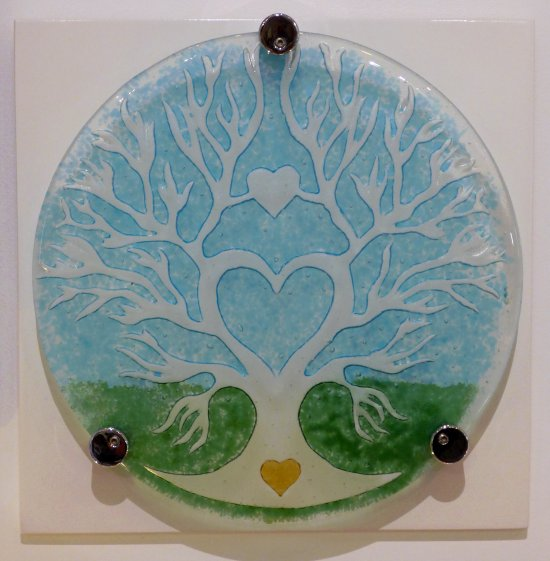 Vitreus Art - fused glass art on a board for wall hanging