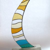 Boomer - Freestanding glass art by Vitreus Art