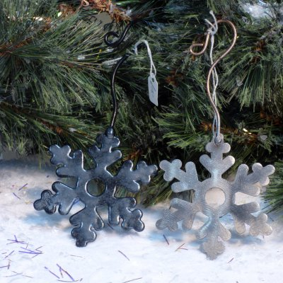 hand-made metal mistletoe Christmas tree decorations available to buy online at Vitreus Art