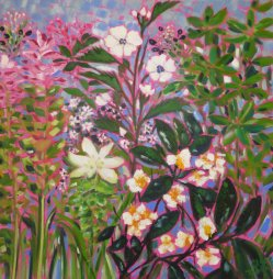 Clare Tebboth - Healing Garden oil painting on canvas