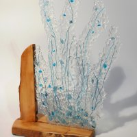 Coral - fused glass art on show at Vitreus Art