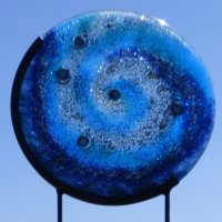 Cosmos - fused glass garden art by Vitreus Art