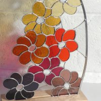 Delius - freestanding stained glass art by Mike Caddy at Vitreus Art