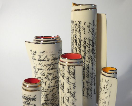 Diane Griffin Scroll vases from small to large