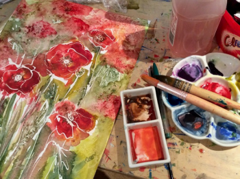 Learn fun watercolour techniques with Clare Tebboth at Vitreus Art