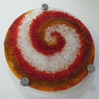 Fire and Ice - fused glass art by Vitreus Art
