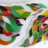 Folium - large stained glass wall art