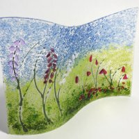 Foxglove Meadow Fused Glass Art at Vitreus Art gallery, Northants