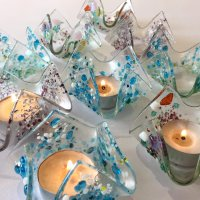 New workshop - fused glass tealight holders afternoon class at Vitreus Art studio and gallery