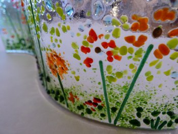 Beautiful slumped glass art made by a student