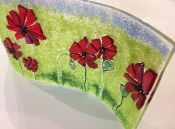 Fused glass art made by a student at Vitreus Art