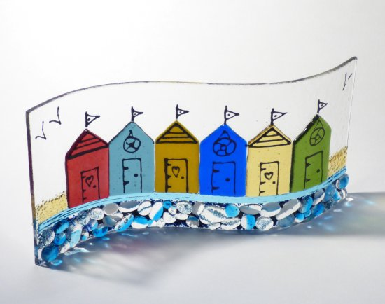 Original fused glass art by Jenny Timms of Vitreus Art, on show at the gallery near Towcester and Milton Keynes in Northants