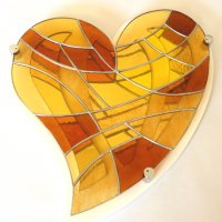 Heart of Gold Stained Flass wall art - click to view