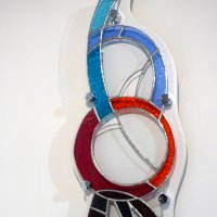 Pearls - art deco style stained glass by Jenny Timms