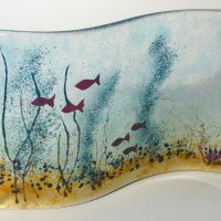 In The River - Fused glass art - click to view