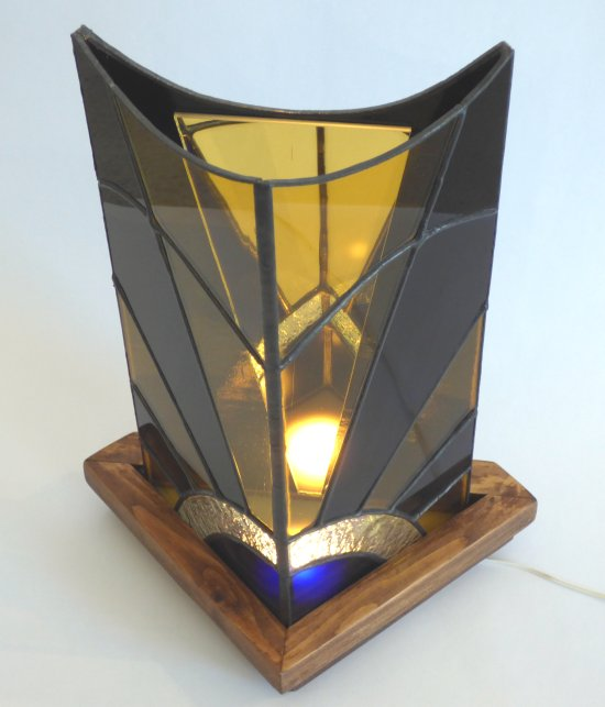 Infinity stained glass Lamp by Mike Caddy and Vitreus Art