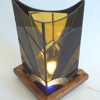 Infinity Stained Glass lamp by Vitreus Art