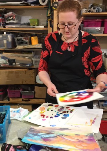 Emily Brady - artist and teacher at Vitreus Art