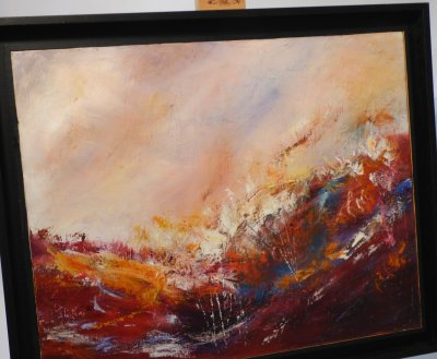 Irene Foster - Red Sea painting on show at Vitreus Art
