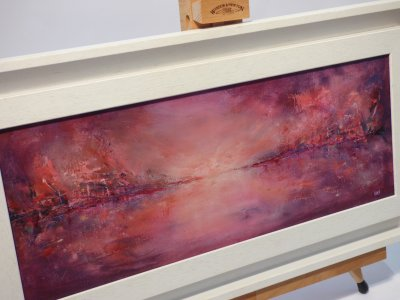 Pink Sunset - original oil painting by Irene Foster at Vitreus Art