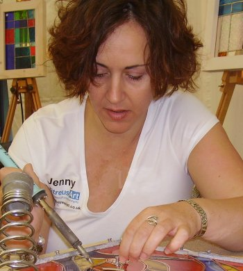 Jenny demonstrating at a craft fair