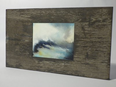 Ink & Paper seascape in reclaimed wood by Johan Barber