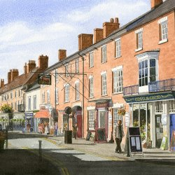 Watercolour painter John Damsell at Vitreus Art