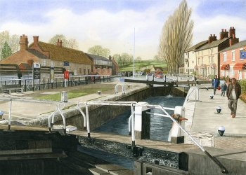 John Damsell watercolours at Vitreus Art