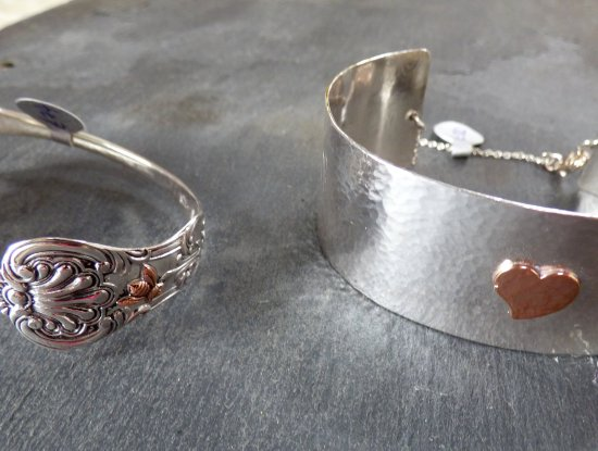 Juliet Brown - new silver jeweller at Vitreus Art, making exquisite jewellery from old silver cutlery