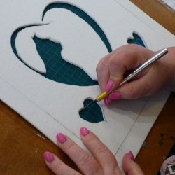 Kiln Carving -  learn to create bas relief in glass on this workshop