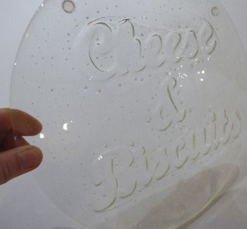 Glass fusing with kiln carving - a piece of art you can make yourself!