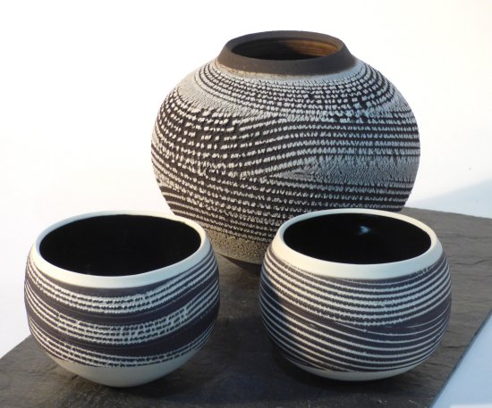 New Winter Field Bowl ceramics from Kirsteen Holuj now on sale at Vitreus Art gallery Northants