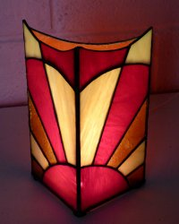stained glass lamp made by Sarah at Vitreus Art