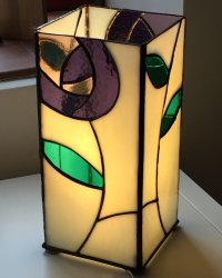 Stained Glass lamp made by Clare at Vitreus Art