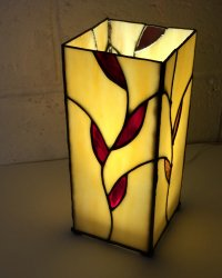 Stained glass lamp made by Wendy at Vitreus Art