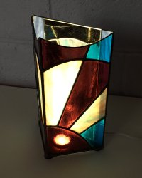 Stained Glass lamp made by Tracey at Vitreus Art
