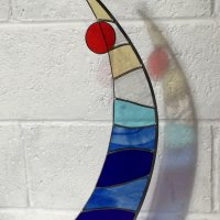 Latitude - stained glass art by Vitreus Art