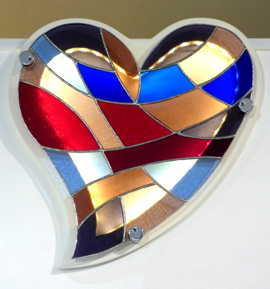 Stained Glass wall art with LED illumination by Vitreus Art