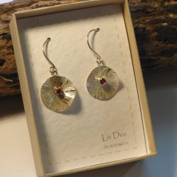 Liz Dee earrings in silver at Vitreus Art