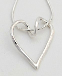 Twisted Heart silver necklace by LIz Dee